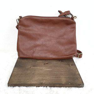 Joy Susan brown faux leather cross body